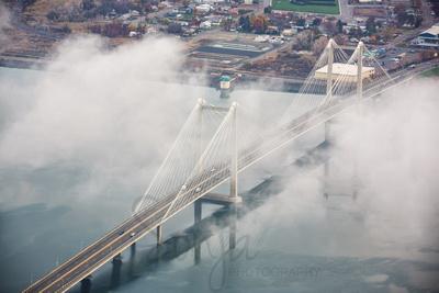Aerial Bridge in the Fog